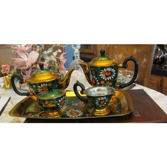 New Hand Painted Russian Vintage Tea and Coffee Set ~ Circa 1960's to 1970's - Image 11 of 11
