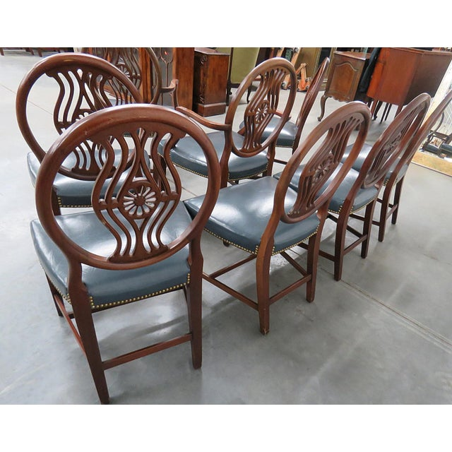 Set of 8 Georgian Style Dining Room Chairs For Sale - Image 9 of 12
