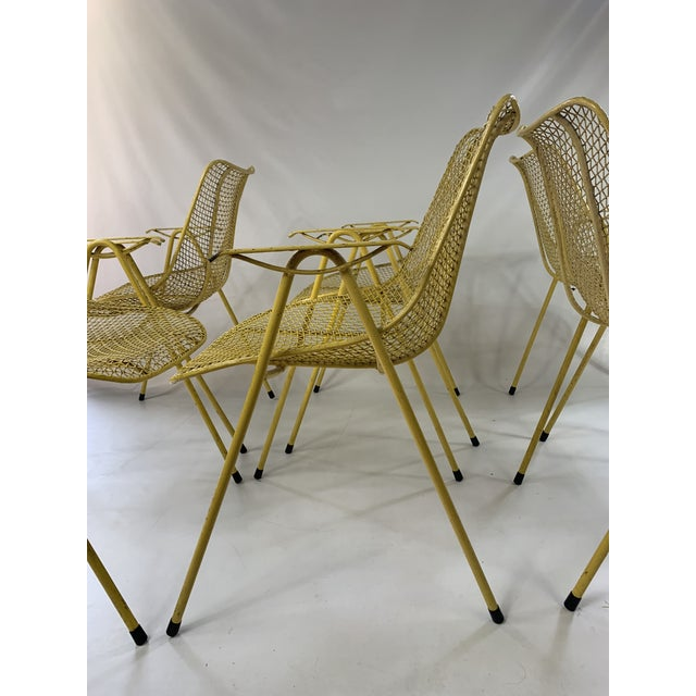 Mid-Century Modern Russell Woodard Mid-Century Modern Sculptura Outdoor Dining Chairs - Set of 6 For Sale - Image 3 of 13