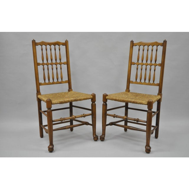 L & J G Stickley Fayetteville Queen Anne Cherry Dining Chairs - Set of 4 - Image 3 of 11