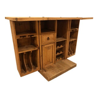 Rustic Solid Pine Wood Bar For Sale