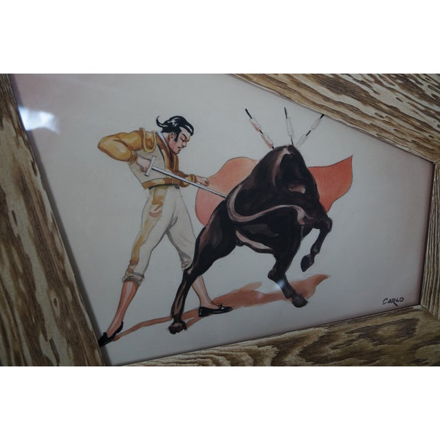 Carlo of Hollywood Bull Fighter Watercolors - A Pair - Image 3 of 10