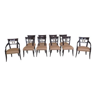 Baker Modern Regency Dining Room Chairs- Set of 10 For Sale