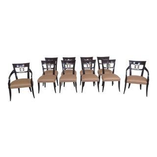 Baker Modern Regency Dining Room Chairs- Set of 10 For Sale