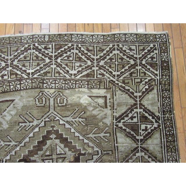 "1960's Vintage Handmade Wool Turkish Anatolian Area Rug-4'10'x10'3"" For Sale In Atlanta - Image 6 of 10"