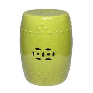 Chinese Lime Green Garden Stool For Sale