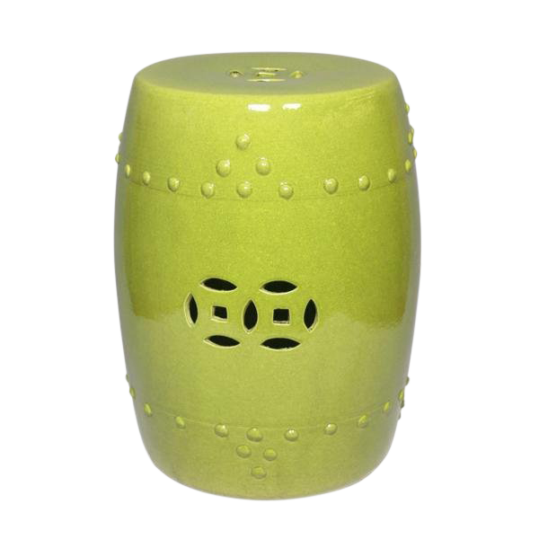 Beau Chinese Lime Green Garden Stool