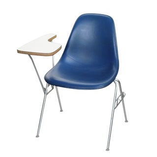 Herman Miller Side Shell Chair With Built-In Desk For Sale