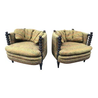 Vintage Mid Century Schnadig Chairs- A Pair For Sale
