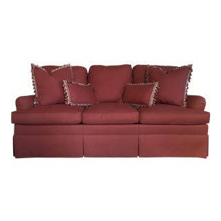 Charles Stewart Company Red Designer Sofa & Pillows