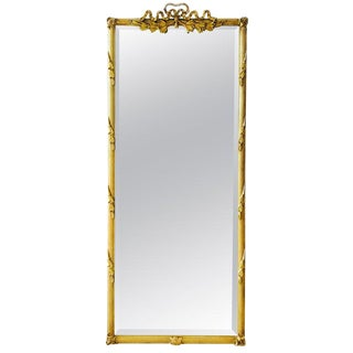 Louis XVI Gilded and Hand Carved Pier Mirror, France 1940's For Sale