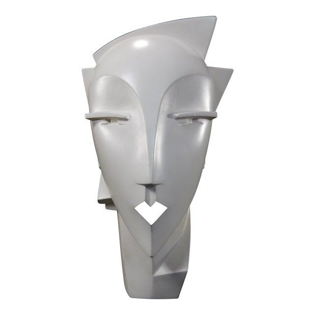 Lindsey Balkweill 1984 Vintage Sculptural Plaster Head - Image 1 of 11