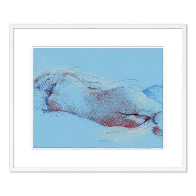 Figures, Set of 6 by David Orrin Smith in White Frame, XS Art Print For Sale - Image 9 of 10