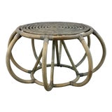 Image of Arteriors Organic Modern Rattan Uli Accent Table For Sale