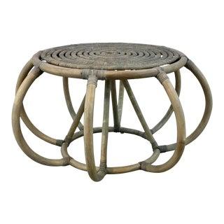 Arteriors Organic Modern Rattan Uli Accent Table For Sale
