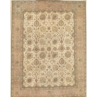 "Pasargad Home Tabriz Collection Area Rug - 9'9"" X 12'9"" For Sale"