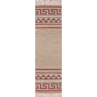 """Esme Pink Hand Woven Area Rug 2'3"""" X 7'6"""" Runner For Sale"""