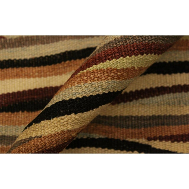 Boho Chic Cinderel Beige/Red Hand-Woven Kilim Wool Rug -5'10 X 8'3 For Sale In New York - Image 6 of 8