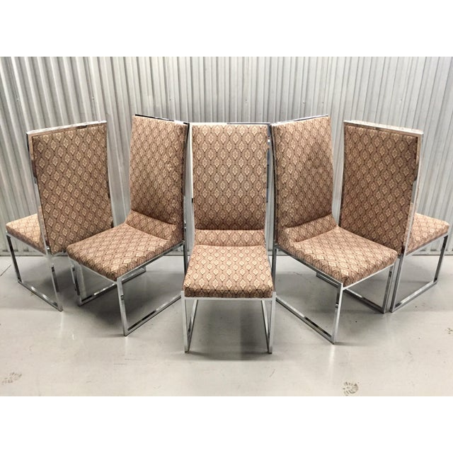 Milo Baughman Patterned Dining Chairs - Set of 6 - Image 3 of 11