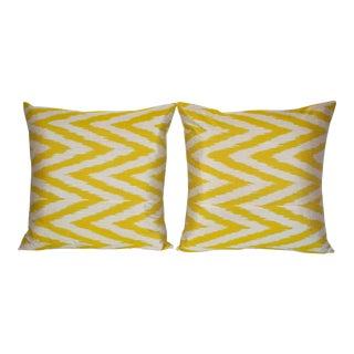 Contemporary Yellow Ikat Pillows