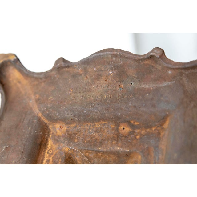 Copper 1930's Deco Inspired Copper Floor Lamp For Sale - Image 8 of 9