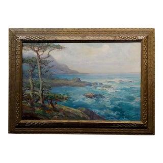 Charles Henry Harmon 1927 Sur California Coastline-Impressionist Oil Painting For Sale