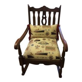 1800's Antique Ocean Cruise Rocker Chair For Sale