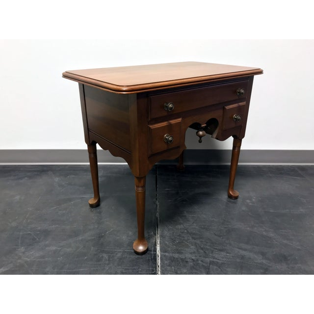 Farmhouse Pennsylvania House Cherry Queen Anne Diminutive Lowboy Chest Nightstand For Sale - Image 3 of 11