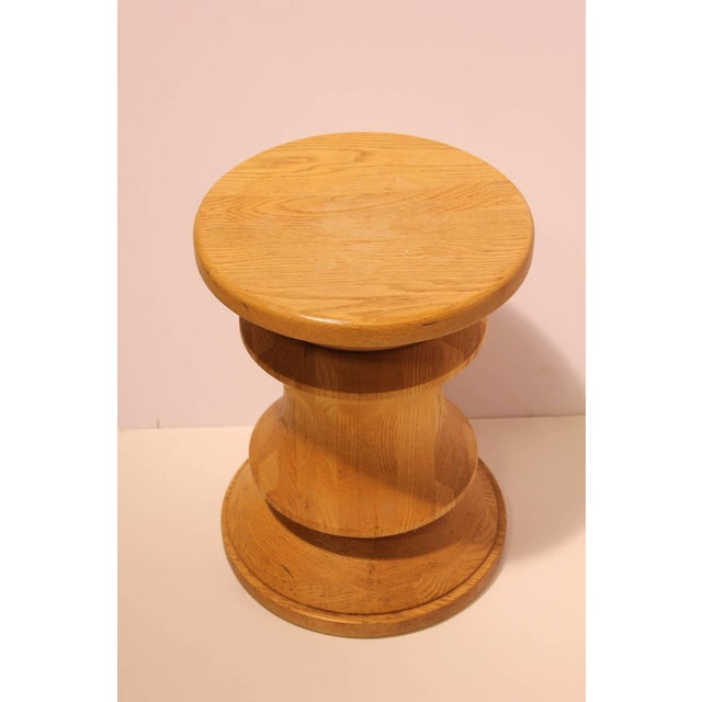 Midcentury Wood Stool or Side Table - Image 2 of 2
