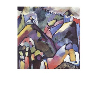 """Wassily Kandinsky Improvisation 9 35.5"""" X 27.5"""" Poster 1988 Expressionism Multicolor For Sale"""