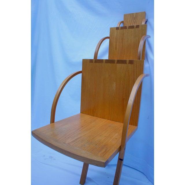 1970s Vintage Handmade Step Leaning Shelf For Sale - Image 4 of 12