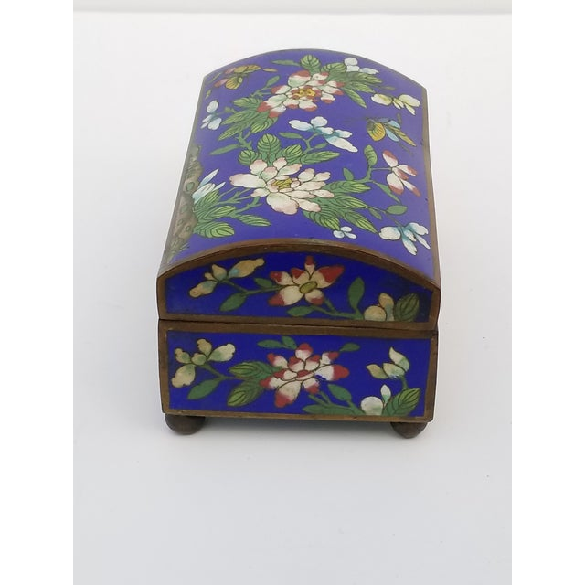 Asian Antique Chinese Cloisonne Box For Sale - Image 3 of 11