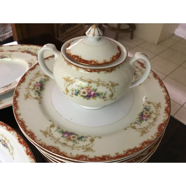 Ceramic Antique Rare Hinode (Noritake ), Year 1876 Hand Painted China/48 Pieces, Dinnerware. Final Reduction For Sale - Image 7 of 13