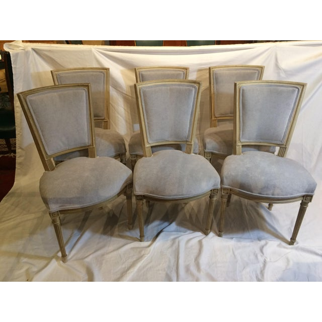 Louis XVI Style Painted Chairs - Set of 6 For Sale - Image 9 of 9