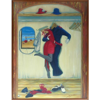 """""""Tango on the Beach"""" by Belgian/Israeli Artist Sonia Drabkin, Signed & Numbered For Sale"""