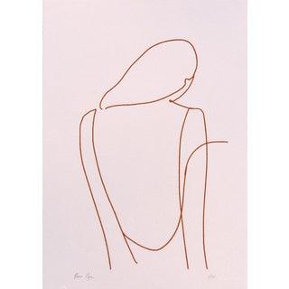 Contemporary Minimalist Figurative Limited Edition Screen Print For Sale