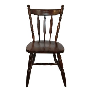 Late 20th Century Temple Stuart Rockingham Style Cattail Back Chair For Sale