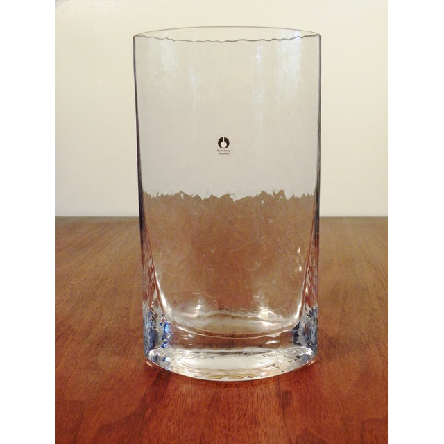Pukeberg Sweden Vintage Handmade Art Glass Vase - Image 4 of 7