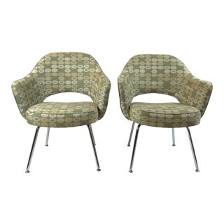 1950s Vintage Eero Saarinen for Knoll Arm Chairs- A Pair For Sale