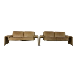 1970s Swiss Leather Sofas - a Pair For Sale