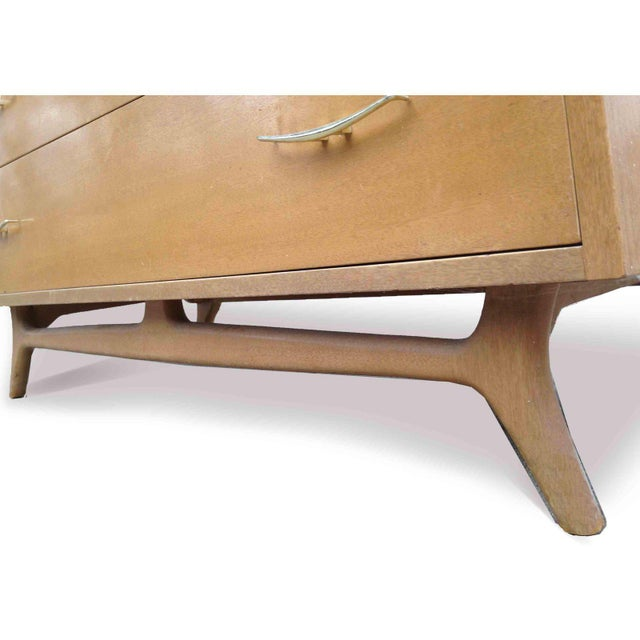 Brown 1950s Vintage R-Way Mid-Century Modern Trapezoid Highboy For Sale - Image 8 of 9