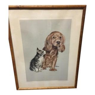Vintage Marvin Hahn Puppy Kitten Print
