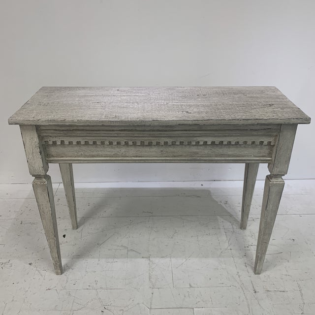 1990s Custom Console With Antique Pediment For Sale - Image 9 of 13