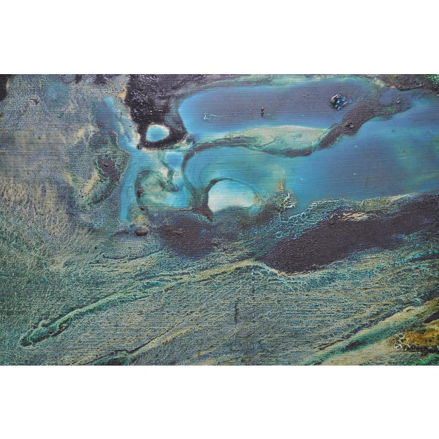 Gray Mid-Century Modern Abstract Painting by Rita Robinson C.1961 For Sale - Image 8 of 11