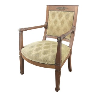 19th Century French Empire Mahogany Armchair For Sale