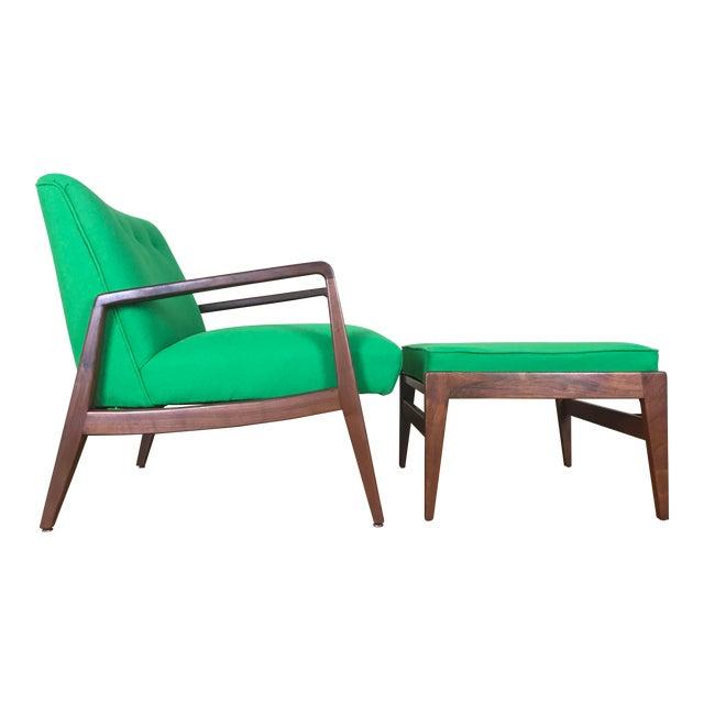 Jens Risom Lounge Chair amp Ottoman Chairish