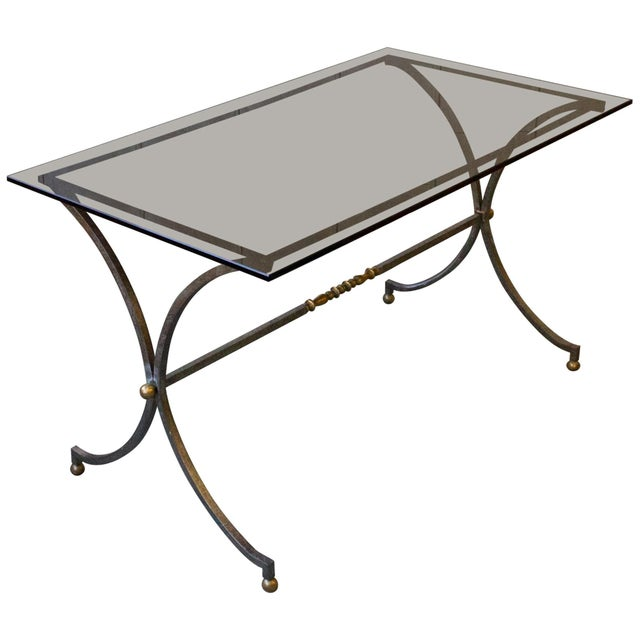 Brushed Steel and Brass End Table For Sale - Image 11 of 11