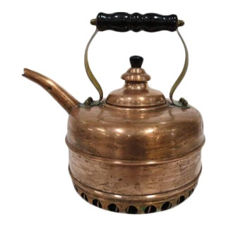 Vintage English Simplex Beehive Copper Kettle, C1990. For Sale