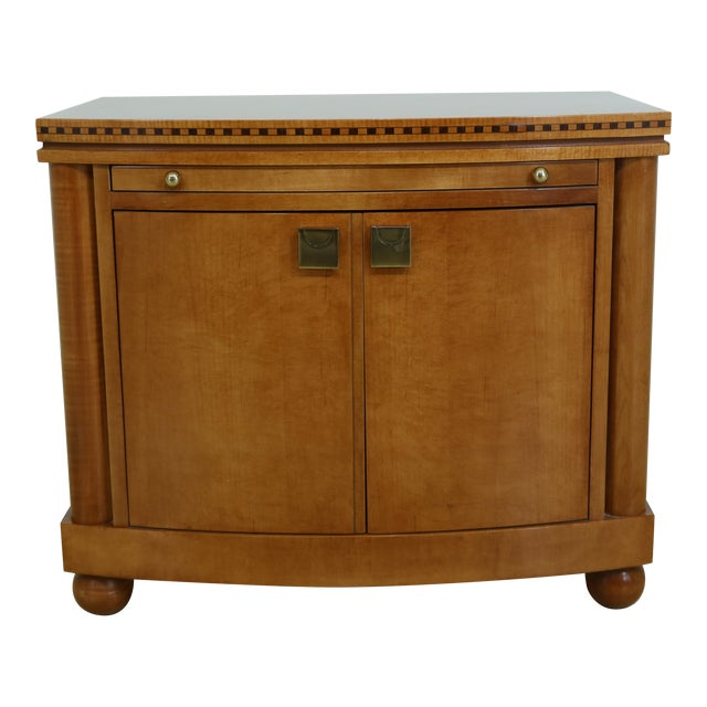 Hickory White Satinwood Genesis Collection Nightstand For Sale