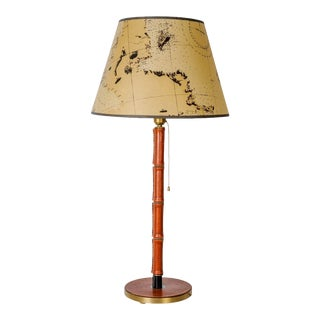 Amazing Table Lamp by Jacques Adnet For Sale